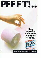 PUBLICITE ADVERTISING 0217  1985  papier toilette Page Plus 2