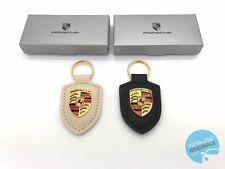 Porsche Crest Key Ring Key Fob Black & White Set of 2