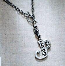 Jim Shore Enesco Monogram Necklace, Letter V Jewelry New Authentic