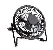 Ventilador Usb metálico mini fan plug & play súper silencioso 360 ajustable