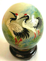 Smithsonian Institution Hand Painted Chinese Porcelain Eggs Birds