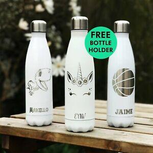 Personalised Water Bottles - Laser Engraved - Customised - Metal - Insulated
