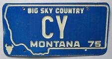 Montana 1975 VANITY License Plate C Y