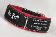 Pitbull Collar Leather dog collar Hand Stitched Heavy duty leather dog collar
