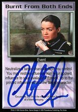 BABYLON 5 CCG Claudia Christian PSI CORPS Burnt From Both Ends AUTOGRAPHED