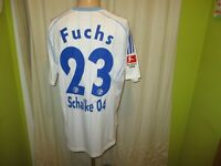 "FC Schalke 04 Adidas Ausweich Trikot 2010/11 ""GAZPROM"" + Nr.23 Fuchs Gr.L TOP"