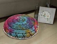 Indian Large Mandala Floor Pillow Meditation Cushion Cover Ottoman Pouf Cover