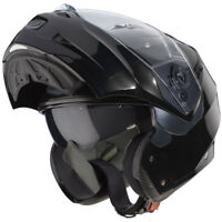 Caberg Duke II Flip Up Front Modular Motorcycle Bike Helmet Lid - Smart Black