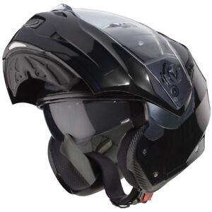 Caberg Duke II Flip Up Front Modular Motorcycle Bike Helmet Lid - Smart Black