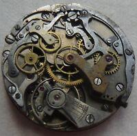 Landeron Cal. 3 mens wristwatch Chronograph movement & dial balance broken