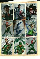 1995 FLEER BATMAN Forever Metal Silver Flasher CARDS Your Pick Finish your Set