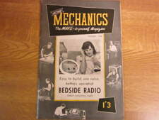 January 1958, HOME MECHANICS, Bedside Radio, Hacksaw Blades, Invalid Table.