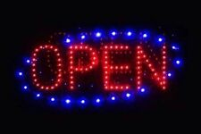 Interactive, multi-color, bright LED light, OPEN sign on sale!