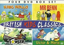 British Kids Classics Mr Benn King Rollo Towser Victor And Maria 4 DVD Gift Set