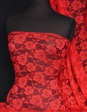 Red rose fleur tissu en dentelle stretch Q963 RD