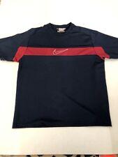 Vintage Nike Gray Label Mens Shirt Sz Xl Blue Maroon Stripe Great Condition