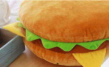 Hamburger 40cm Cotton Food Pillow Toy Doll Room Bedding Car Interior Cushion