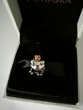 s925 ale  frog prince with gold crown charm &  pandora pop up box