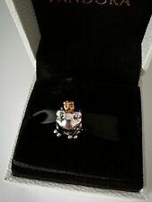 ORIGINALE s925 ALE principe rospo con Corona d'Oro Charm Pandora Collection