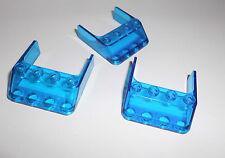 Lego (6238) 3 Windschutzscheiben 4x4x1, in transp, blau aus 6775 6473 6339 6544