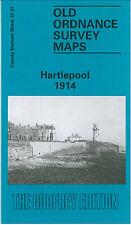 OLD ORDNANCE SURVEY MAP HARTLEPOOL 1914