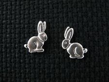 RABBIT .925 Sterling Silver Stud / Post Earrings - FREE SHIPPING & Gift Box!!