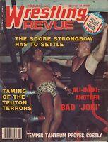 Wrestling Revue February 1978  Strongbow, Ali-Inoki VG 041316DBE