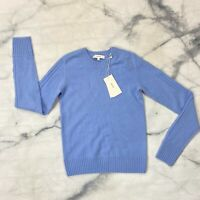 Vince Cashmere Knit Sweater Size XXS Womens Palisades Blue Crew Neck Pullover