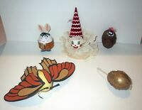 Artist Lot DECORATED EASTER EGG Figurine Collection 1960s