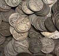 90% Silver Walking Liberty Half Dollars - $1 Face Value