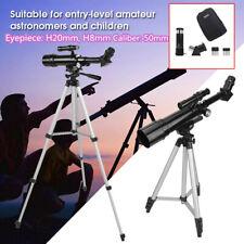 Portable Astronomical Refractor Telescope w/ Bag & Adjustable Tripod & Eyepieces