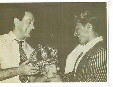 Joe Weider presents Larry Scott w/First Mr Olympia Crown 1965 Muscle Photo B&W