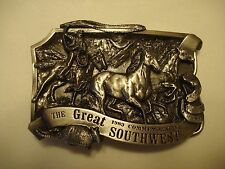 Commemorative Solid Pewter Belt Buckle, The Great Southwest, Dated 1983