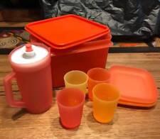 TUPPERWARE AUTUMN TONES KIDS MINI PICNIC SET CUPS PLATES JUG