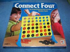 Connect 4 Four Vertical Checkers Game Milton Bradley 2002 COMPLETE---Great Fun!!