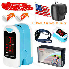 Finger Pulse Oximeter Portable Heart Rate SPO2 Monitor Blood Oxygen Meter Sensor
