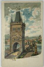 Org Postcard Street View Sruss aus Prag! Russian from Prauge B STYBLO