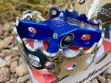 Bullseye BMX High Polished And Blue  PRO X Round Pedals Bear Trap Rare BMX