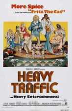 Heavy Traffic Poster 01 Metal Sign A4 12x8 Aluminium