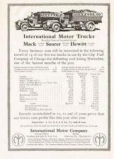 1913 Original Vintage Mack Truck Saurer & Hewitt Trucks Art Print Ad b
