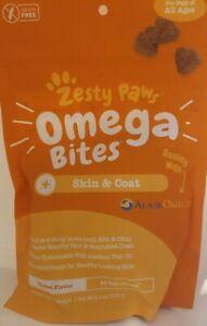 ZESTY PAW MOBILITY DOG OMEGA BITE SKIN COAT OMEGA 3 6 ANTOXIDANT FISH OIL 9/21