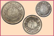 Syria :- 1929 Set of 3 Silver Coins 10,25,50 Piastres