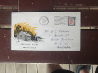 CANADA PREVENT FIRES  1956 FIRST DAY COVER TORONTO-AUSTRALIA ADDRESSED