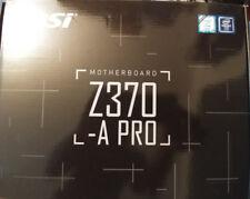 MSI Z370-A PRO LGA-1151 Coffee Lake Z370 DDR4 ATX Desktop Motherboard