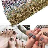 Transfer Foil Nail Foils 16 Mixed Leopard Nail Art Decal Glitter Stickers Wraps