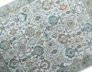 Antique Hand Made Beige Traditional Persian Oriental Style Wool Area Rug