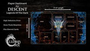 Custom made player mat for Descent Legends Of The Dark