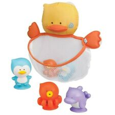 B Kids Nifty Net Duck Bath Toy Dripping Net 3 Play Baby Bathing Toys & Pouch