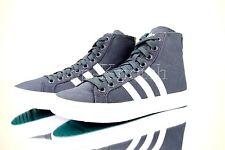 Adidas Originals Girls CourtVantage Mid 3 Stripe Shoes Grey White Womens Size 9