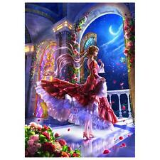 5D Fairy DIY Diamond Flower Embroidery Painting Cross Stitch Kit Home Decor Gift